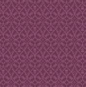 Lewis & Irene - Celtic Coorie - 6775 - Stylised Floral, Thistle in Purple - A414.3 - Cotton Fabric